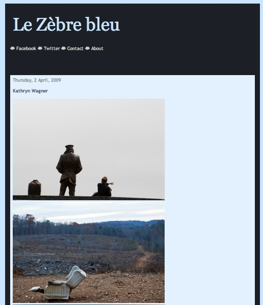 "Featured on ""Le Zèbre bleu"""